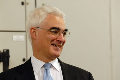 Alistair Darling MP, Chancellor of the Exchequer (Photo: P. Tuffy, University of Edinburgh)